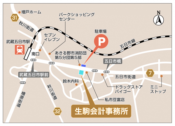 生駒会計事務所地図